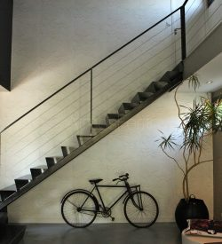 Escalier double limon central | Origami | Atmos fer - Toulouse