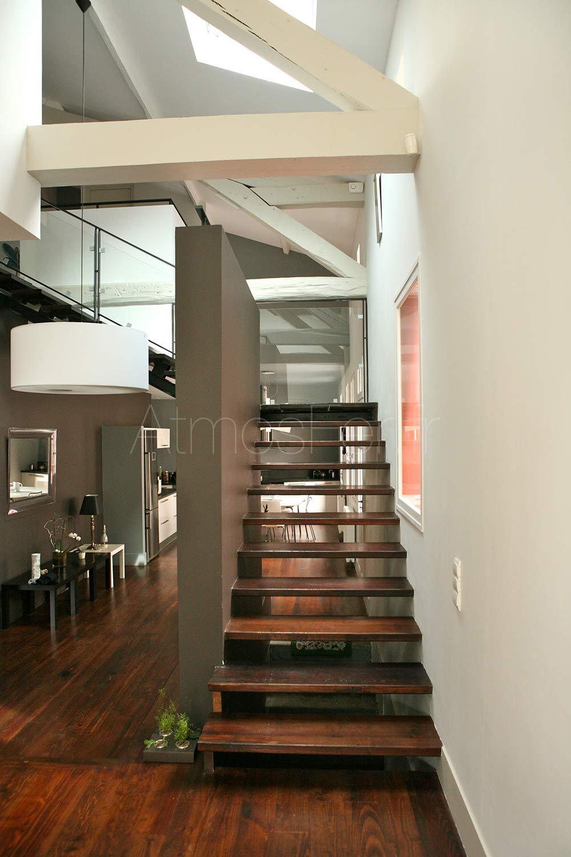 Escalier Bois Entre Deux Murs escalier métal et bois | elégance 5 | atmos fer - toulouse