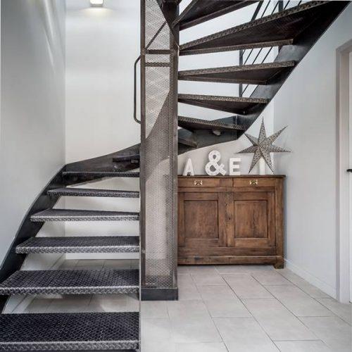 escalier colima on sur mesure toulouse atmos fer ferronnerie. Black Bedroom Furniture Sets. Home Design Ideas