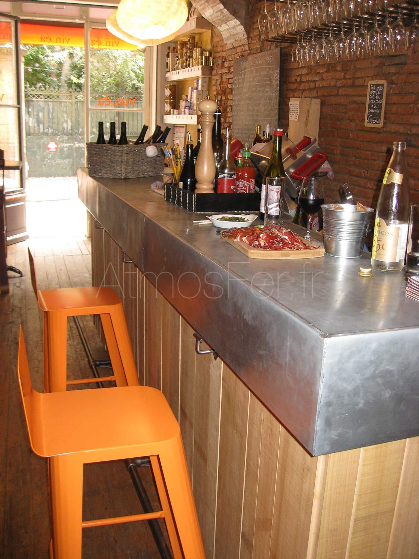 bar en zinc sur mesure magnum toulouse. Black Bedroom Furniture Sets. Home Design Ideas