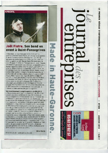 Journal des Entreprises Janv 2013