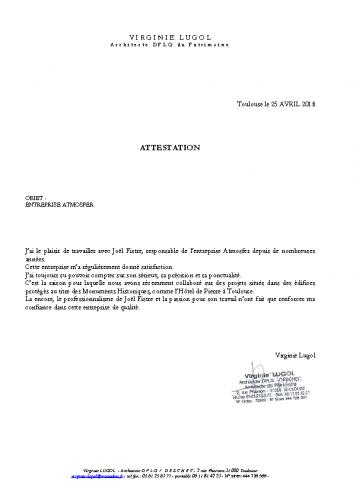 Lugol Virginie Architecte du Patrimoine pdf
