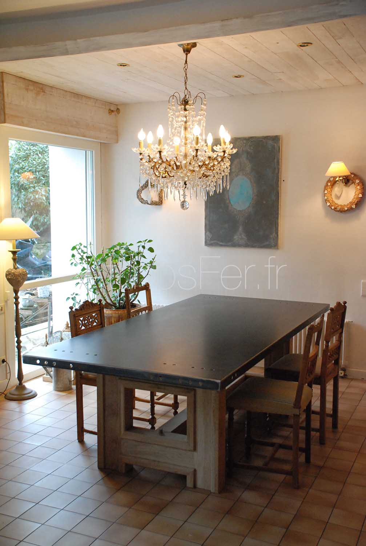 plateau de table acier sur mesure toulouse atmos fer. Black Bedroom Furniture Sets. Home Design Ideas