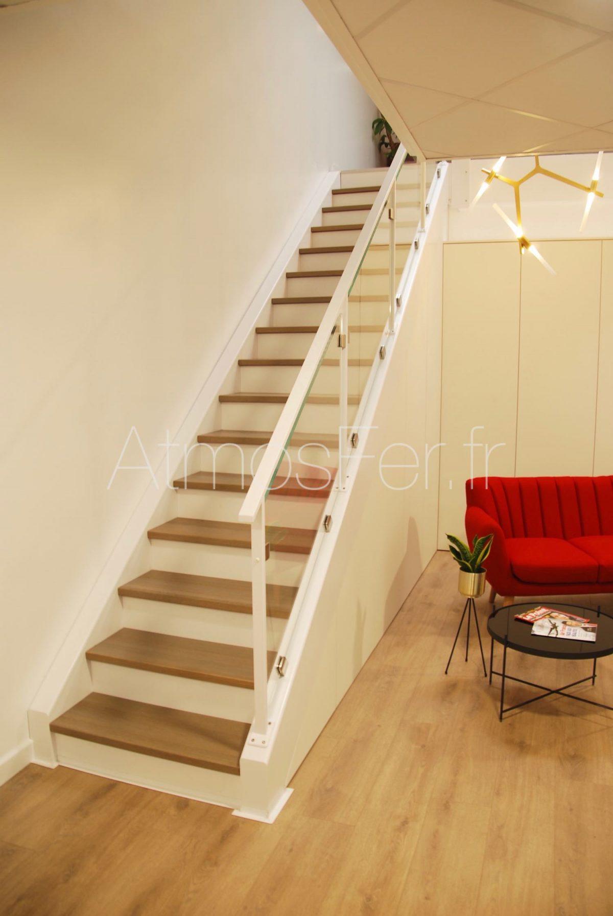 Escalier En Bois Avec Rangement escalier design thermolaqué blanc - design 2 - atmosfer